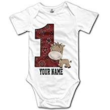 First Birthday Cowboy Horse Humorous Baby Showers Onesie Bodysuit In 4 Sizes