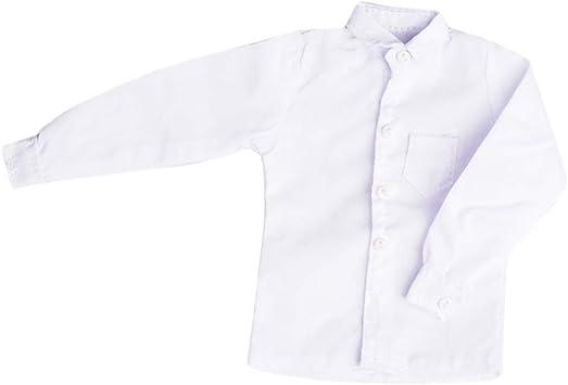 Baoblaze 1/6 Camisa Blanca de Mangas Largas Ropa Casual para Figura de Soldados de 12 Pulgadas: Juguetes y juegos - Amazon.es