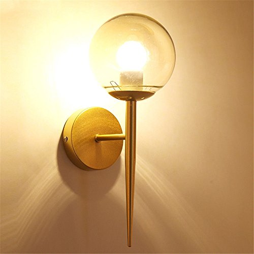 Lamp Angels Table Tiffany (Wall lamp Bracket Light Sconces Modern Wrought Iron led Fabric Table lamp Hotel Hallway Living Room Bedroom Aisle Bedside Switch E27 Gold)