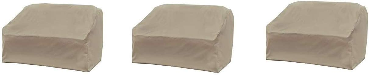 Pack of 2 Modern Leisure 5523A Love Seat Weather /& Water-Resistant Patio Loveseat Cover