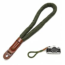 G-raphy Camera Hand Wrist Strap Belt for Camera Leica Canon Nikon Pentax Olympus Sigma Sony Fujifilm Casio Panasonic DSLR Camcorder Camera Binocular (Army Green)