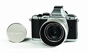 Olympus Limited Edition OM-D E-M5 Kit with 17mm f1.8 lens, metal lens hood, and metal lens cap (Silver)