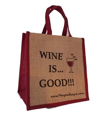 La borsa Company Wine is Good!!-Borsa Shopper in juta