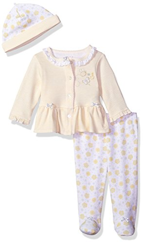 Little Me Baby Girls' Cardigan and Hat Set, Bumble Bee New, 6 Months