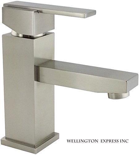 Wellington 8202 Bn Bathroom Sink Faucet Single Handle Single Hole Deck Mount Lavatory Faucet Brushed Nickel