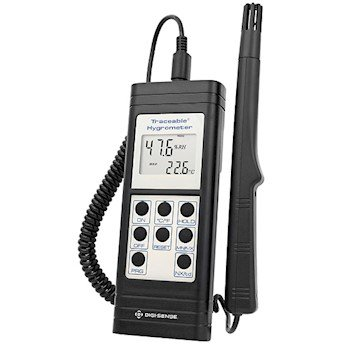 Cole-Parmer Thermohygrometer, RS-232, 10 to 95% RH/, 0 to 199F