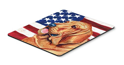 Caroline's Treasures Mouse/Hot Pad/Trivet, USA American Flag with Bloodhound (LH9016MP)