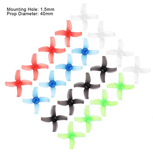 Replacement Propeller - Makerfire 20pcs 40mm Propellers 1.5mm 4-Blade Prop CW CCW Sets Replacement Parts for Beta75X FPV RC Drone Racing Quadcopter