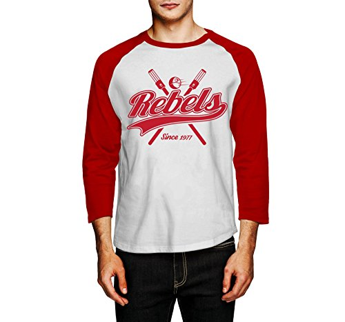 Secret Level Star Wars-Rebels Baseball Tee-Star Wars Inspired Fashion Baseball Tee Red and White - Knock Items Wholesale Off
