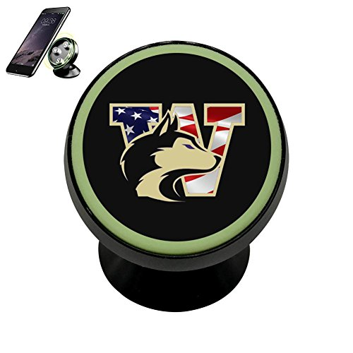 (PG-Gai Washington Huskies Universal Magnetic Car Mount - Ultra-Compact 360 Rotation Phone Holder Dashboard Mount)