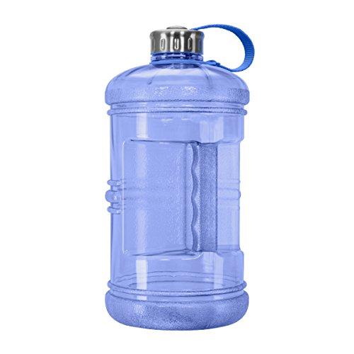 3 Liter BPA-Free Water Bottle with Stainless Steel Cap - Dark Blue (Blue Polycarbonate Water Bottle)
