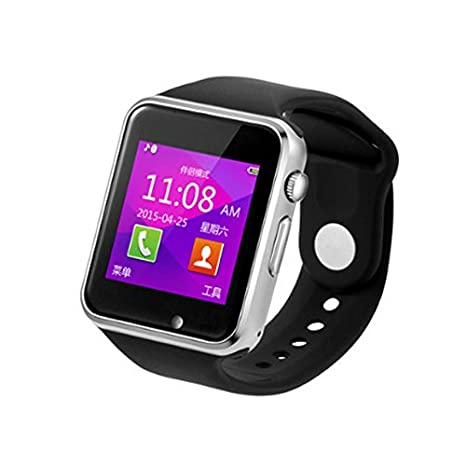 Dokpav® W08 Reloj inteligente Smartwatch Podómetro, Bluetooth, USB, Compatible con Smartphone IOS iPhone Android Samsung, color Negro: Amazon.es: ...