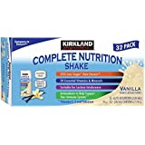 Kirkland Signature Complete Nutrition Shakes, 32-Pack, 8.2 fl. oz. (Vanilla) Pack of 10