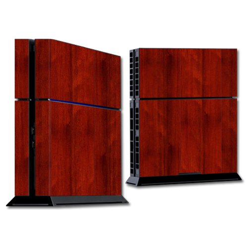 MightySkins Skin Compatible con Sony Playstation 4 PS4 Console wrap Pegatinas Skins Cherry Wood