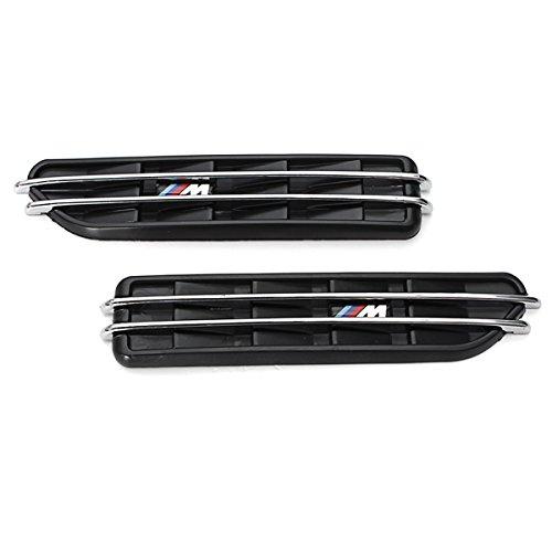 Grille de ventilation - SODIAL(R)Debit cote garde-boue Grille de ventilation autocollant Grille a air pour BMW E60 M5 E61 E39 E90 M3 E46 060638