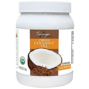 Tresomega nutrition Organic  Virgin Natural Cold pressed Coconut Cooking Oil 54 oz (1532g)