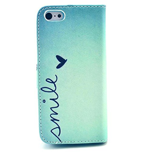 Yaobai-Cuir Coque Case Etui Coque étui de portefeuille protection Coque Case Cas Cuir Swag Pour Iphone 5s 5g