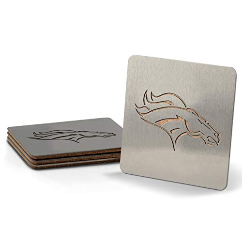NFL Denver Broncos Boaster Stainless Steel Coaster Set of 4 -