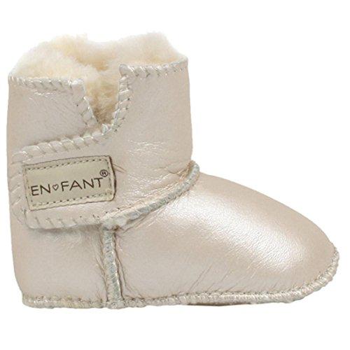EN-FANT Unisex, botas de bebé, piel de cordero, muy suave y caliente, tamaño L, marrón, 811840U-03