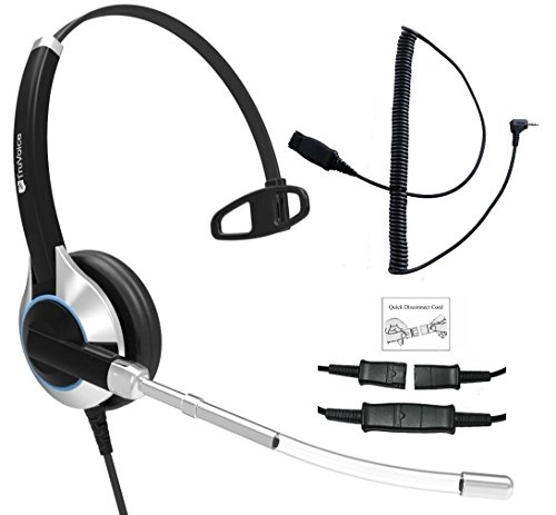 le Corded Headset With Noise Reduction Voice Tube and adapter cable for iPhone, Samsung, HTC, LG, Blackberry, ZTE, Huawei Mobile Phone and all Smartphones with 3.5 mm Jack ()