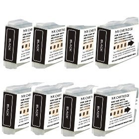 Generic Compatible Ink Cartridge Replacement for Brother LC-51 ( Black , 8-Pack ) ()