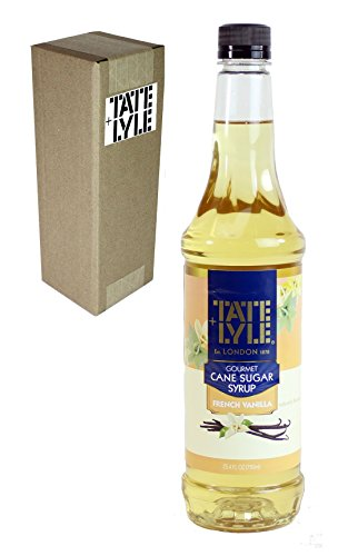 Tate+Lyle Fairtrade Pure Cane Sugar French Vanilla Syrup, 750mL (25.4oz) Bottle, Individually Boxed