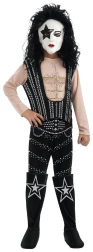 Halloween Rock Band Costumes (Kiss Deluxe The Starchild Costume - One Color - Medium)