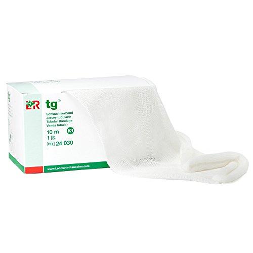 Free Tubular Latex Bandage - tg Tubular Bandage, Seamless Knit Stockinette Wrap for Lymphedema Compression Bandaging, Lightweight, Breathable, Washable, Reusable Elastic Bandage, 67% Cotton, 33% Viscose, Size K1, 10 m Roll