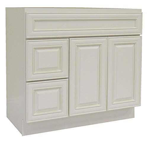 NGY AW-3621DL Vanity Cabinet Maple Wood, 36