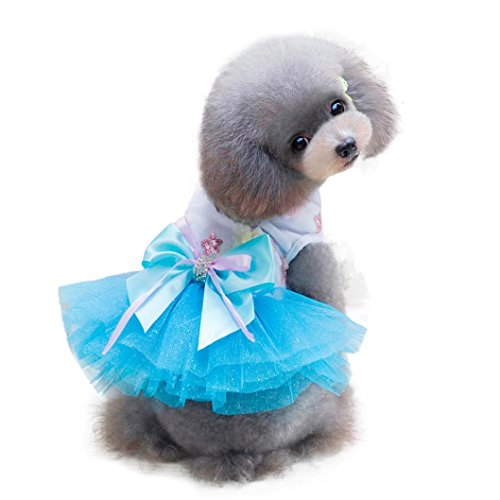 41ULMlWtNgL - Neartime Puppy Dress, Dog Clothes Pet Grid Skirt for Small Medium Pets