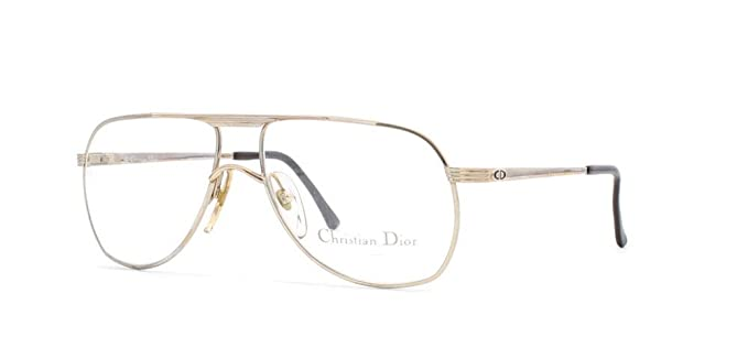 fda7038708 Image Unavailable. Image not available for. Color  Christian Dior 2553 40  Gold and Silver Authentic Men - Women Vintage Eyeglasses Frame