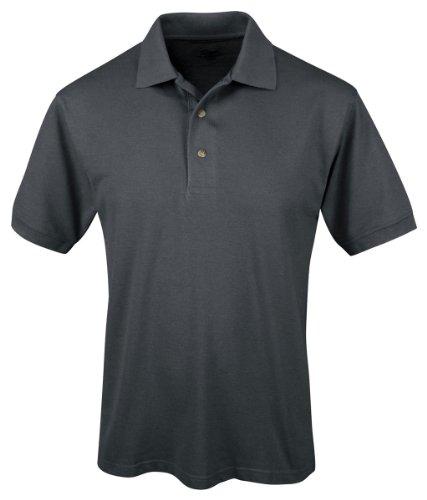 Tri Mountain 095 Mens Easy Care Short Sleeve Pique Golf Shirt   Steel Gray   2Xlt