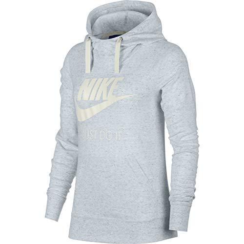 Nike Womens Gym Vintage HBR Hoodie Birch Heather/Sail 914414-051-Size Small