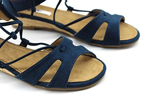 Modelisa - Sandalia Plana Cordon Mujer Azul marino