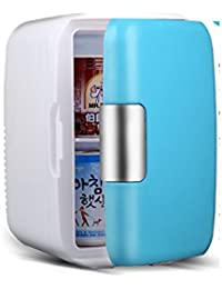 SL&BX 6l car refrigerated,Mini fridge small home mini dormitory car and home portable small freezer cooler fridge-Blue 17.5x26x29cm(7x10x11)