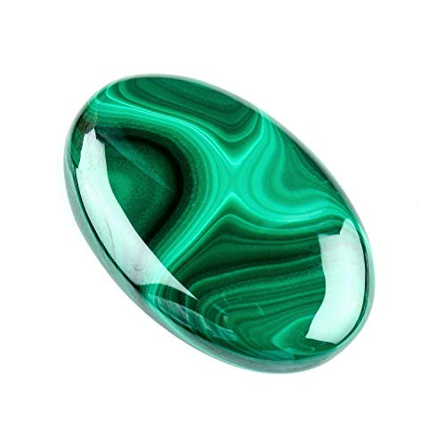 130+ cts Malachite Crystal Stone, Malachite Cabochon, Malachite for Pendant Necklace, Gift for her, Birthday Gift, Stone of transformation, Chakras Healer, Healing Crystals, Energy Stone 41x31mm (A)