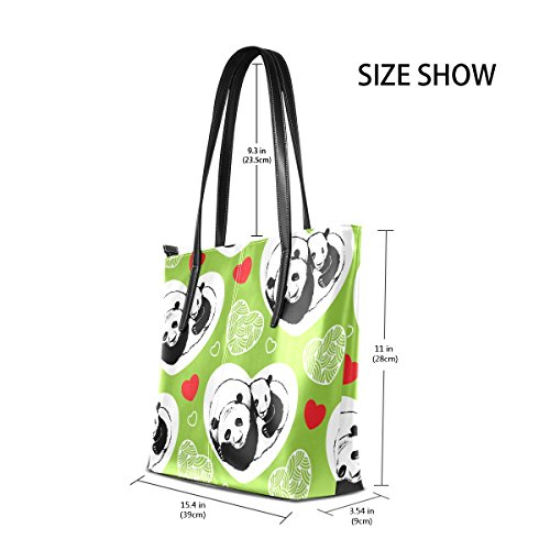 Pandas Purses PU Shoulder Sleeping Women's Hearts Top Totes Handbag Fashion Handle Leather Bags TIZORAX Rw4qax5Z