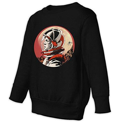 Xgbb Mars Astronaut Science Fiction Film Toddler Long Sleeve Pullover Sweatshirt Little Boys' Sweatshirt Black 5/6T