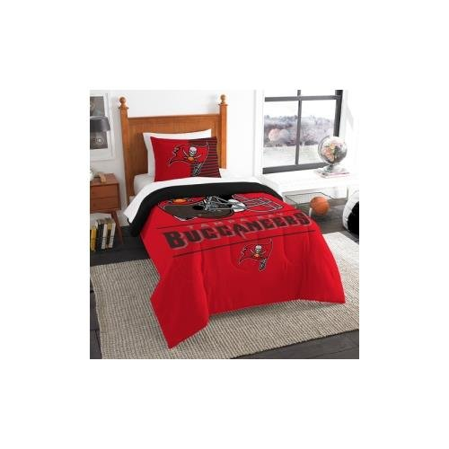 (The Northwest Company NFL Tampa Bay Buccaneers Twin Comforter and Sham, One Size, Multicolor)