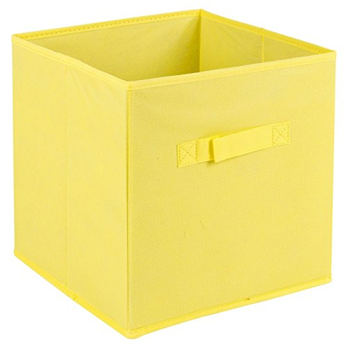 (URBN Living Collapsible Storage Cube Drawer Box with Carry Handles (Yellow - Medium))