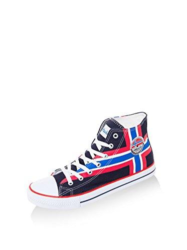 Nebulus - Chaussures de sport High Union - style vintage - (W212) - Homme - noir - Pointure 45