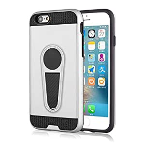 RaG&SaK King armour Shock Proof with Kick stand Case for Iphone 6- Silver