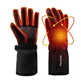 PAXCESS Heated Gloves, Heated Snowboarding Gloves with 4000mAh Rechargeable Li-ion Battery for Men and Women, Battery Heated Gloves Work up to 2.5-6.8 Hrs for Cycling Motorcycle Hiking Skiing,XL