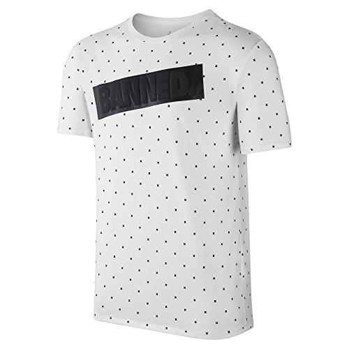 white Courtes Blanco T Tee 1banned Homme Nike Aj Pour Manches Black shirt H6vnYq