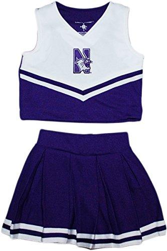 Cheerleader Piece 2 Dress (Creative Knitwear Northwestern University 2 Piece Cheerleader Dress)