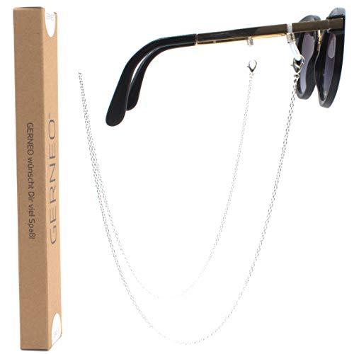 GERNEO® - ORIGINAL – korrosionsbeständige Brillenkette – vergoldet oder versilbert – einzigartig hochwertige Brillenkette & Brillenband für Sonnenbrillen & Lesebrillen
