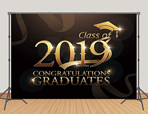 Daniu Class of 2019 Photo Background Graduation Photography Backdrops Graduate with Cap Photo for Students Vinyl 7x5ft (Best Scholarships For Graduate Students)