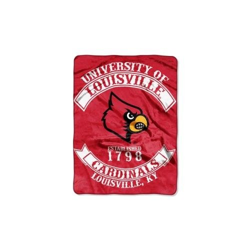 The Northwest Company NCAA Louisville Cardinals Rebel Plush Raschel Throw, 60