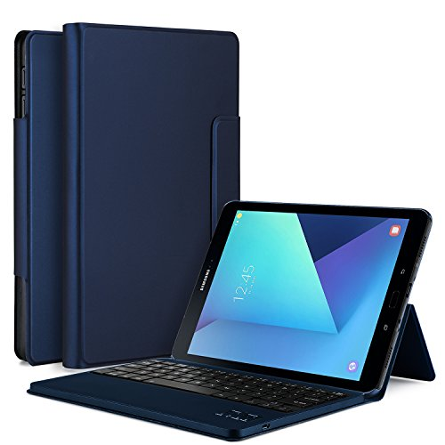 IVSO Samsung Galaxy Tab S3 9.7 Case With Keyboard Ultra-Thin DETACHABLE Bluetooth Keyboard Stand Case/Cover for Samsung Galaxy Tab S3 9.7 SM-T820/SM-825 Tablet (Blue) - Galaxy Tab 3 Accessory Keyboard