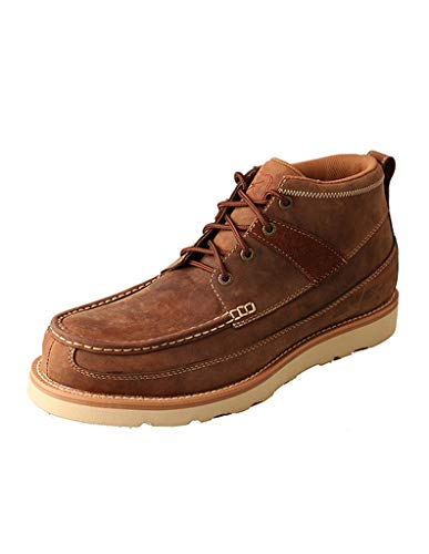 Twisted X Boots Mens Oiled Saddle Steel Toe Casual Shoe 11 D(M) US Brown